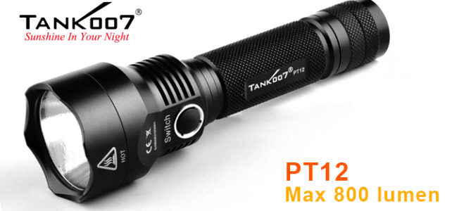PT12 High Power Rechargeable LED Flashlight