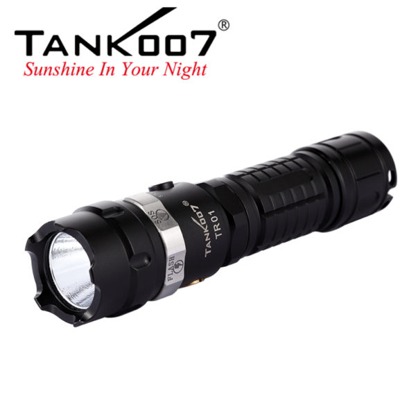 Outdoor survival gears -- outdoor portable flashlight/survival flashlight/rechargable flashlight