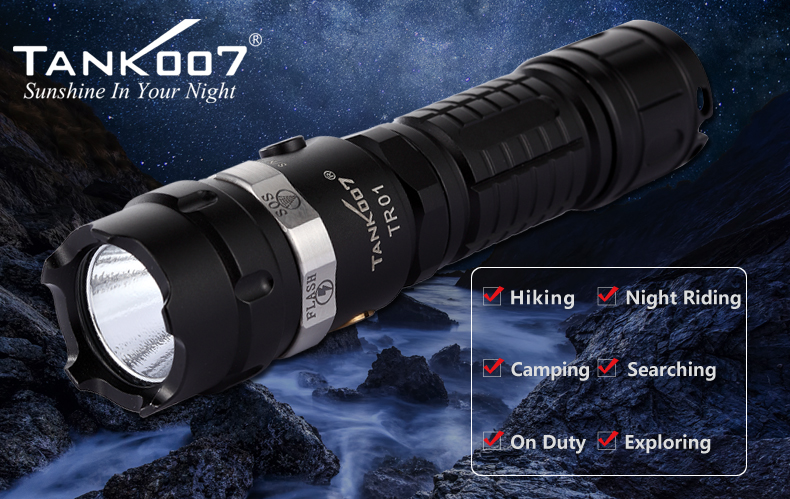 tr01 Tank007 rechargeable flashlight