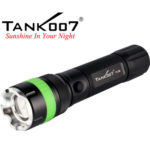 TANK007 TC18  rechargeable flashlight with attractive green fluorescent  circle