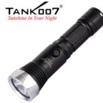 Global First Metal Waterproof Rechargeable Flashlight release TANK007 TC07