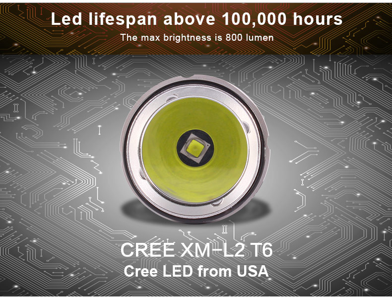 UC17 USB Rechargeable Flashlight tank007