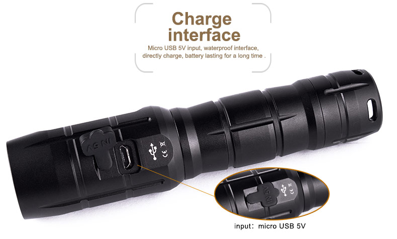 UC17 USB Rechargeable Flashlight