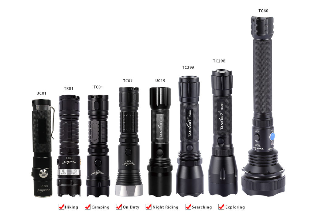 tank007 rechargeable flashlight