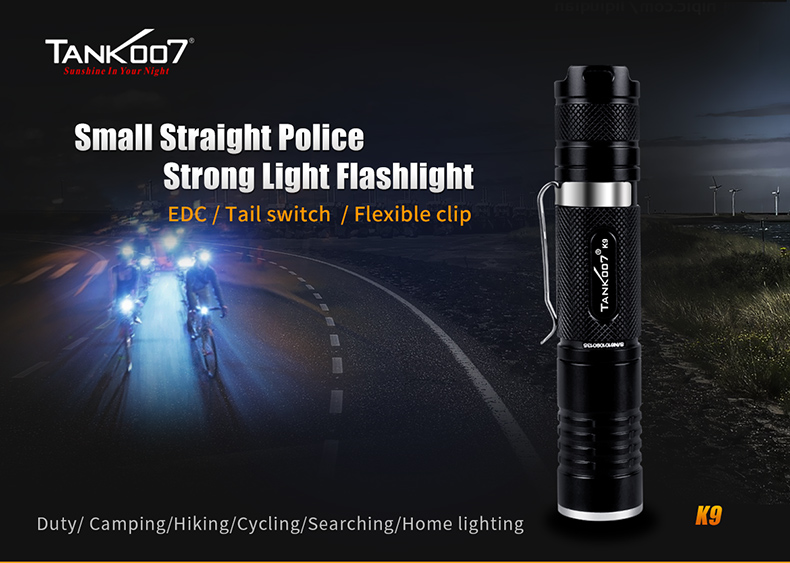 K9 Small Straight Police Tactical Led Flashlight